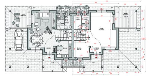 Progetto villa moderna dwg ebooksit for Piante di ville moderne
