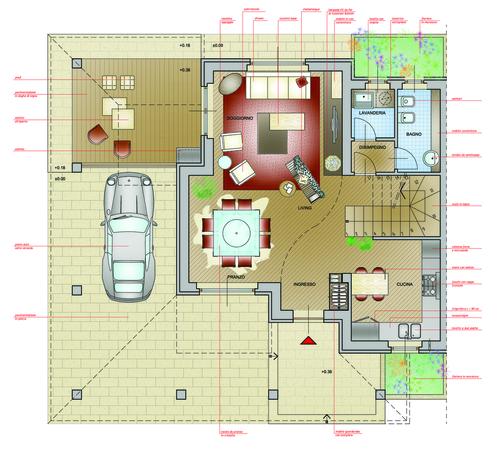 progetti arredamento. arredamento soggiorno with progetti ... - Arredo Design Dwg