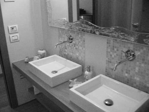 Luca barcella mosaico e doussie 39 africa nella nuova sala - Sala da bagno ...