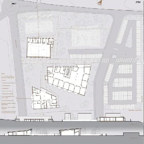 Fiorella Colletta-LAB 80 Studio di Architettura-Andrea Zenobi — Concorso di idee per la realizzazione di un plesso scolastico comprendente scuola d'Infanzia, primaria-palestra in località Osteria di Colleponi