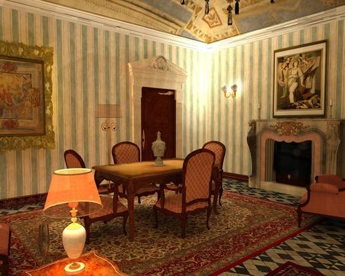 roberto pittaluga — render progetto soggiorno classico - genova ...