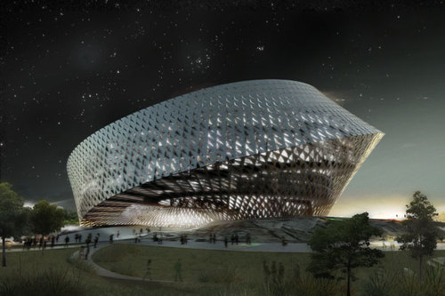 BIG - Bjarke Ingels Group, TOPOTEK 1 — Kazakhstan's new National Library in Astana