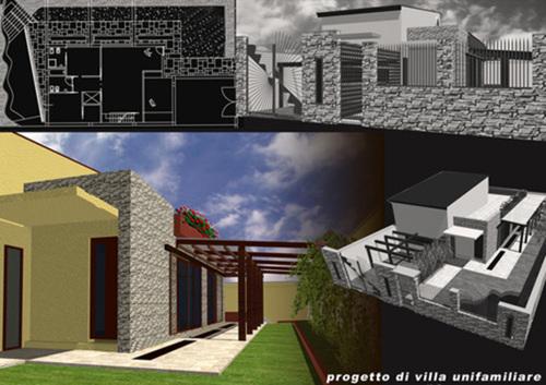 Stefania ferraiuolo progetto di casa unifamiliare - Progetto completo casa unifamiliare ...