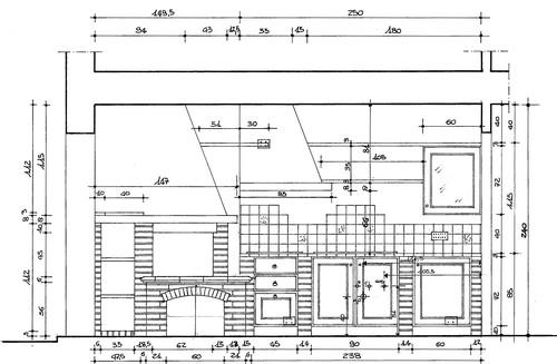 Rovatti sabrina disegni e progetti ordine degli - Cucina muratura progetto ...