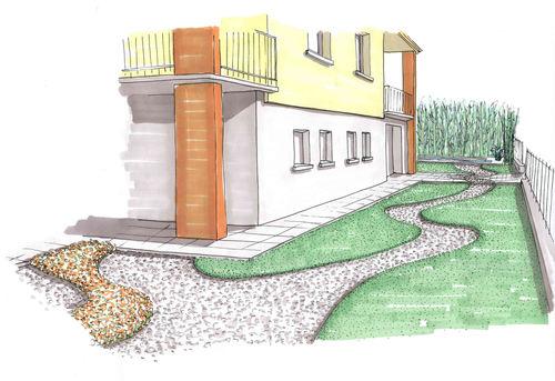Paolo boni progetto di giardino privato divisare by - Progetto giardino privato ...