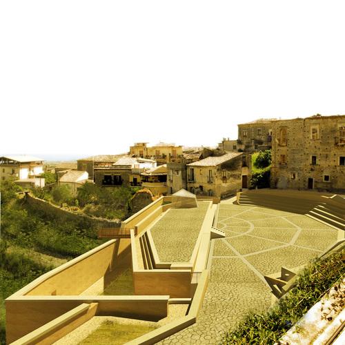 Moduloquattro Architetti, Tito Albanese, Claudio Racco, Giusy Miragliotta — Completamento dell'anfiteatro di Siderno Superiore