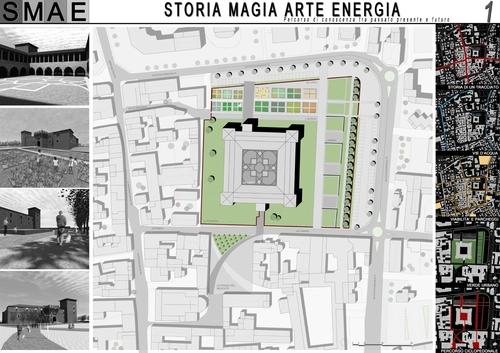 Emfarchitectural, Studio Campanella Tessoni, Michela Tessoni, Guido Favalli — Concorso di idee per la riqualificazione e il riuso del Castello Visconteo e dell'arena circostante