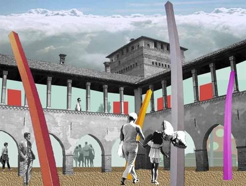 Antonio Felicetti - ZoOu_design — Riqualificazione e riuso del castello visconteo e dell'arena circostante. Pandino