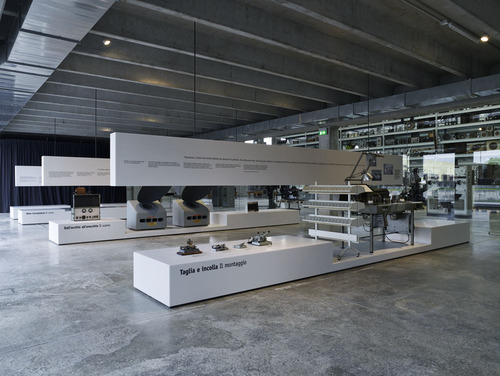 kleihues + schuwerk, klaus schuwerk, Jan Kleihues — Allestimento mostra del Cinema (Museo dell'Industria e del Lavoro di Rodengo Saiano)