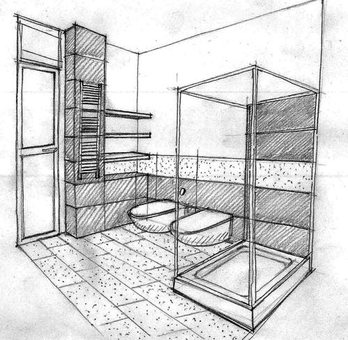 Marcello tomei architetto progetto di ristrutturazione di alloggio per fasce sociali deboli - Progetto ristrutturazione bagno ...