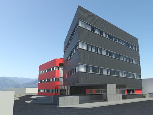 """Antonio Saporito — """"Edificio polifunzionale per le Lezioni di Campus + edificio per associazioni studentesche accreditate""""."""