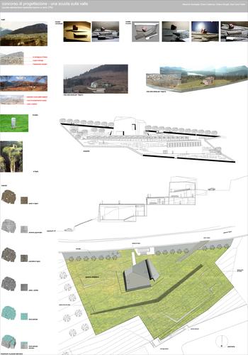 Chiara Dorigati, Remo Dorigati_OdA associati — Concorso di Progettazione- Una Scuola sulla Valle