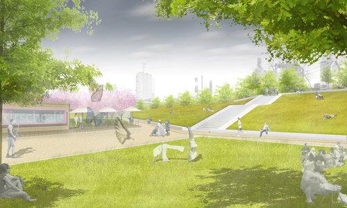 Gr ng rtel duisburg nord bruckhausen concorso di for Progettazione paesaggistica
