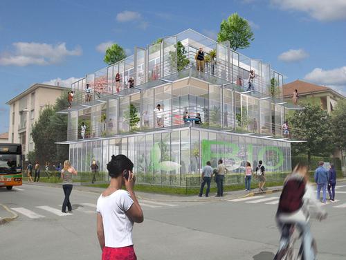 B c architectes concorso di idee sul tema della for Planimetrie della serra