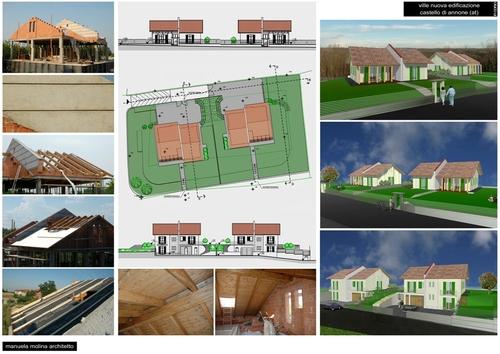 Manuela molina nuova costruzione di ville unifamiliari for Case unifamiliari di nuova costruzione