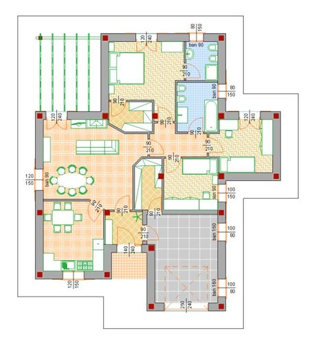 Studio ingarch di graziano fraiese progetto di villa for Progetti di townhouse e planimetrie