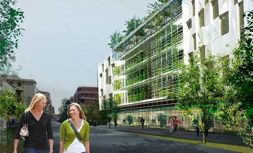 Guendalina Salimei, T-studio — Edificio per alloggi e commerciale