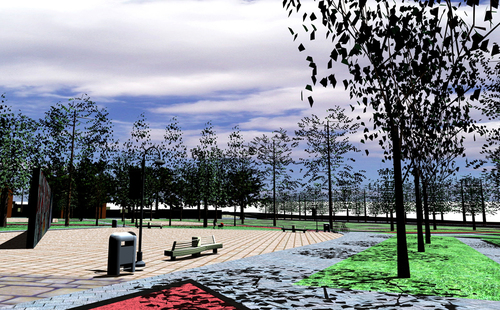 Render piazza interna