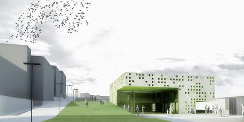 ATENASTUDIO, Rossana Atena, Marco Sardella, Mario Gaudio — Edificio polifunzionale ed edificio per associazioni studentesche. Rende