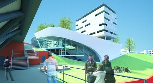 """Pietro Caruso, Federica Mazzuca — Edificio polifunzionale """"Lezioni di Campus"""" + edificio per associazioni studentesche accreditate"""