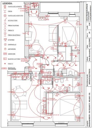 Piermario davide bravin frazionamento di un appartamento for Impianto elettrico appartamento