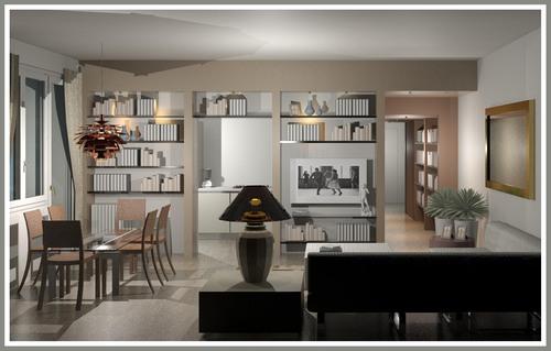 Separ㨠Cucina Soggiorno : Raffaella guazzoni — ristrutturazione appartamento a