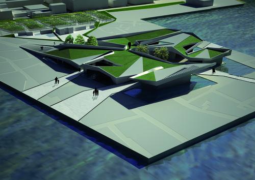 Guendalina Salimei, T-studio — Nuova Stazione Marittima nel Porto Grande di Siracusa