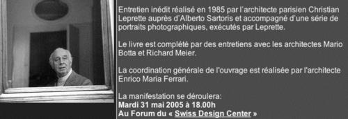 "Emfarchitectural — Exposition ""L'itinéraire magique d'Alberto Sartoris"""