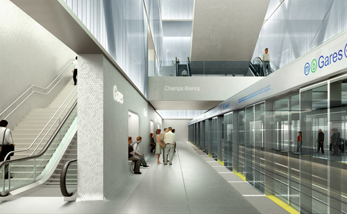 Atelier Zündel Cristea  — Metro station: gares
