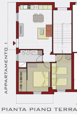 Casa moderna, Roma Italy: Divisione appartamento