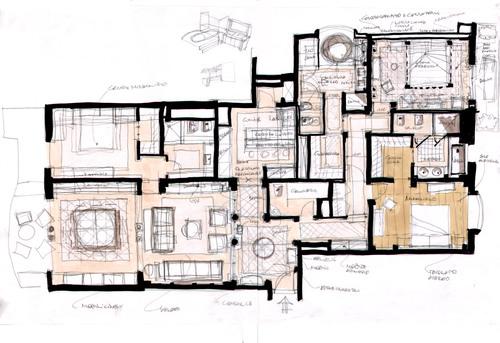 Architetto giorgio mauro progetti non realizzati for Arredamento architettura interni