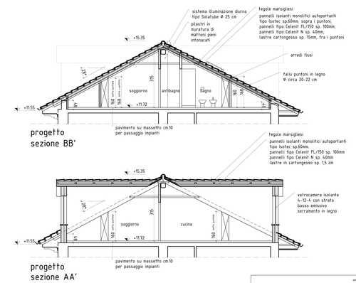 Arch marco portinaro stefania basso recupero a fini abitativi sottotetto divisare by - Sfruttare sottotetto basso ...