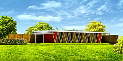 H a rd highly revolutionary design casa in legno e for Piani di casa di balle di paglia di struttura in legno