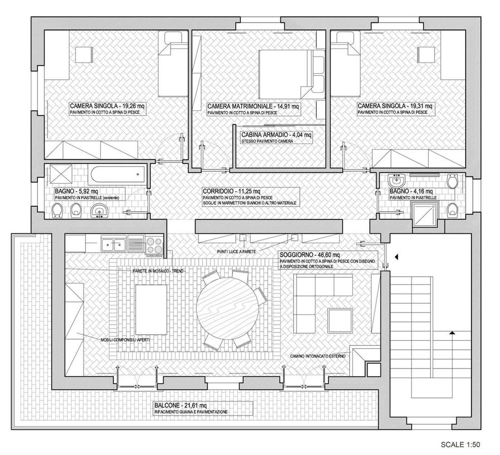 Alessio patalocco casa pissaglia fortunati image 2 of for Planimetrie della casa degli artigiani