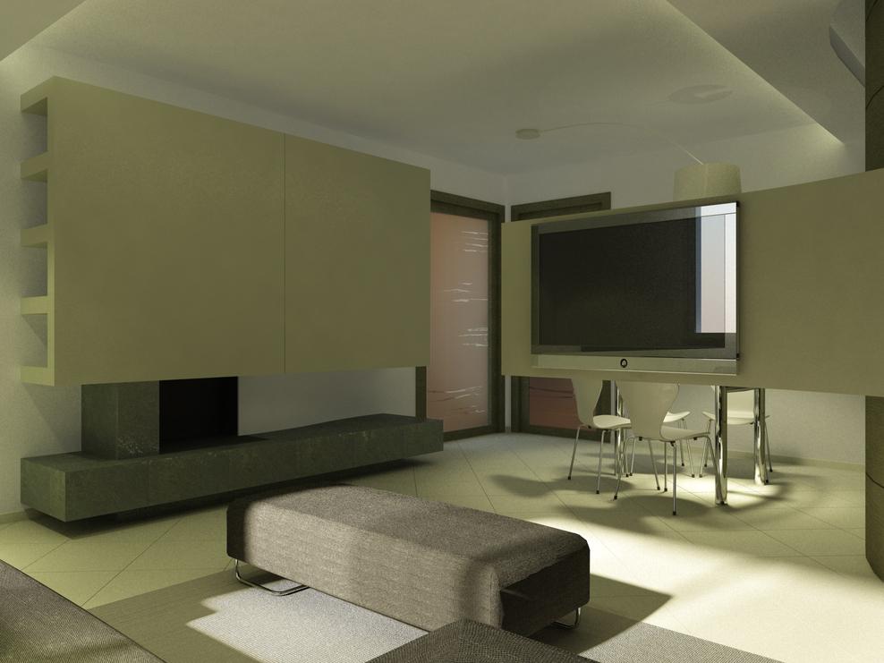 Salotto moderno con camino design casa creativa e mobili for Salotto e soggiorno