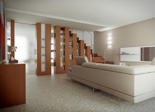 Soggiorno con scala arredamento idee per il design della - Scala soggiorno ...