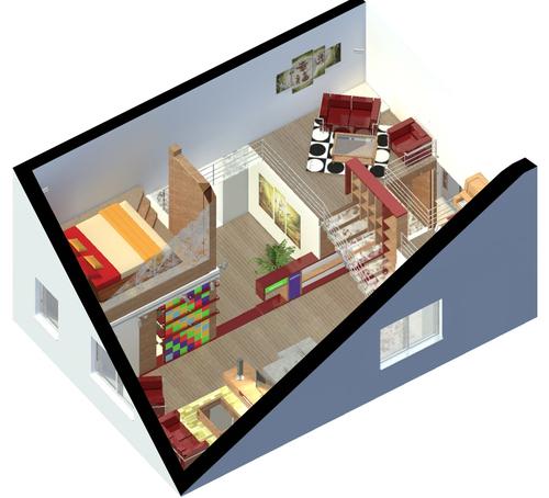Arch pasquale ricupero design d 39 interni di un for Aggiunte di case a due livelli