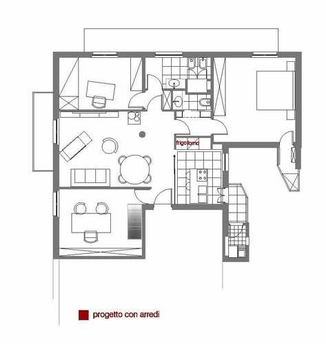 Raffaello di mauro casa d divisare by europaconcorsi - Pianta casa 90 mq ...