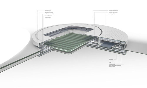 Gmp Architekten - Von Gerkan, Marg und Partner, J.B. Ferrari & Associés — Sports complex and urban re-design