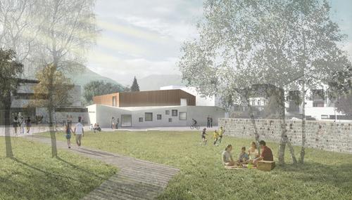 Map studio - Magnani Pelzel Architetti Associati — Scuola materna e locale di prove musica a Sluderno