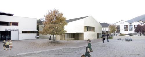 Paolo De Benedictis, Adolfo Zanetti — Nuova costruzione scuola materna e sala prove musica Sluderno