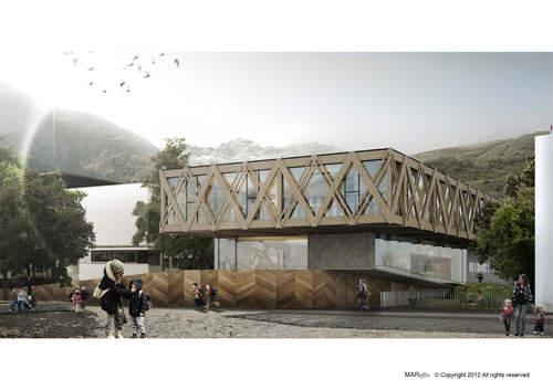 MAR office — Nuova costruzione scuola materna e sala prove musica Sluderno