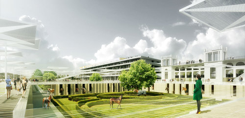 Dominique Perrault Architecture — Restructuration du nouvel hippodrome de Longchamp