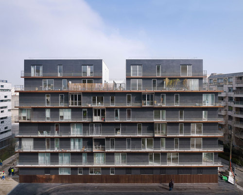 LAN Architecture — 58 housing units Boulogne-Billancourt