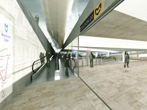 Boschi + Serboli Architetti Associati — Sofia Metro Station 20