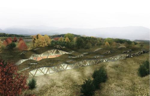 davide pretto — Concetto per lo sviluppo di un'area ricreativa sull'altopiano