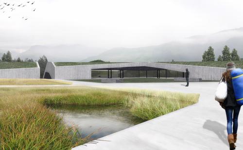 weber+winterle architetti, Stefano Peluso, andrea carlesso, Steven Geeraert, Carlo Neidhardt — Area ricreativa sull'altopiano. Naz-Sciaves