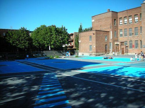 NIPpaysage — Paul-Bruchési schoolyard – Cour bleue