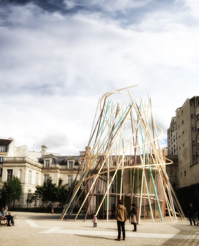 Djuric-Tardio Architectes — SticKs Concept / Smart Temporary Installation for Children's Kiosk in Series