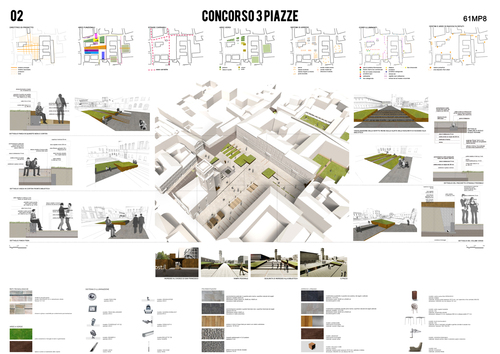 Emilio faroldi associati 3 piazze a cesena divisare by for Master architettura
